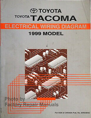 1999 toyota tacoma electrical wiring diagrams original factory manual  ebay