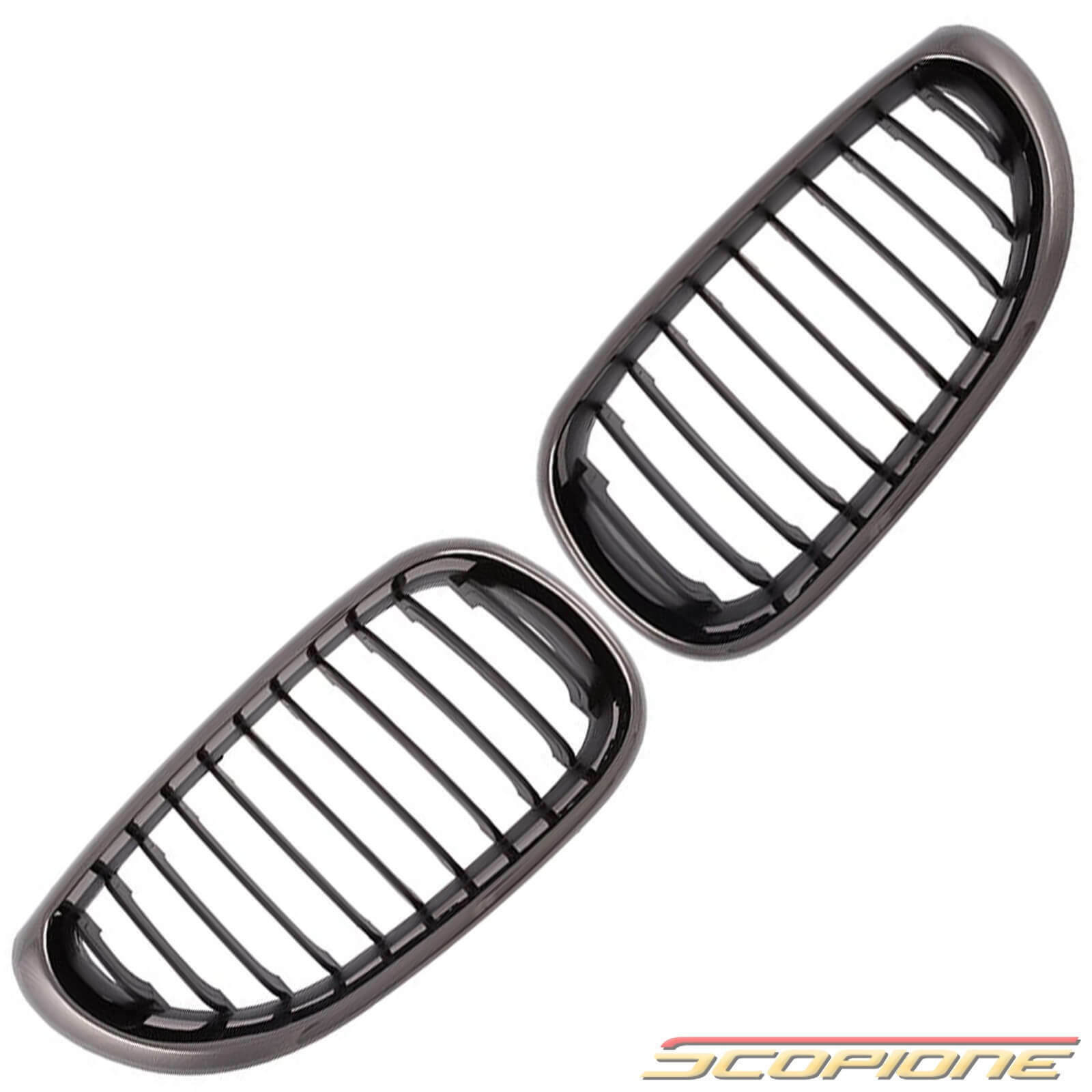 Scopione Black Chrome Kidney Grille Set For Bmw 04 10 5