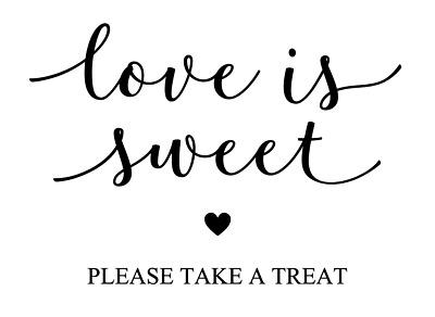 Download Love is Sweet Please Take a Treat Vinyl Decal Sticker ...