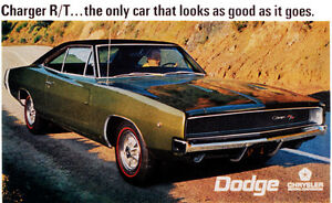 details zu 1968 dodge charger r t promotional advertising poster