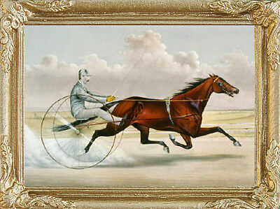 Racing Trotter Dollhouse Picture Miniature Art