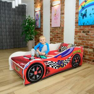 details sur lit voiture matela enfants neuf bebe nobiko 140x70 cm 160 x 80 cm 180 x 80 cm