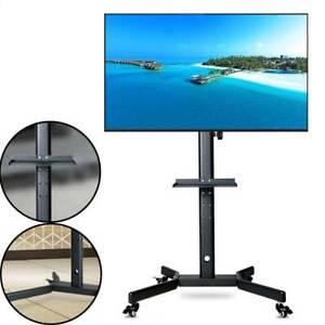 details sur support tv sur pied a roulette tv mobile pour television ecran plat lcd 32 a 65