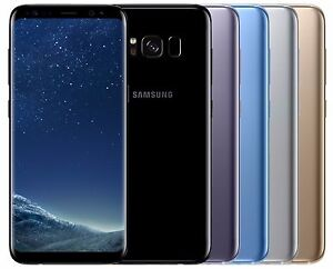 "Samsung Galaxy S8 G950FD Dual Sim (FACTORY UNLOCKED) 5.8"" 64GB Black Gold Blue"