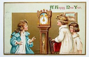 AS BRUNDAGE New Year Grandfather CLOCK Amp CHILDREN