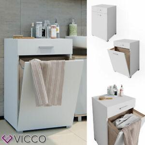 details sur vicco armoire a linge matteo avec compartiments meuble de salle de bain blanc