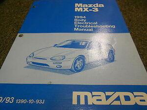 1994 Mazda MX3 MX3 Body Electrical Service Repair Shop Manual BOOK OEM 94   eBay