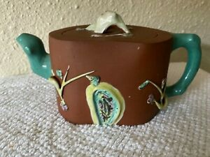 ANTIQUE CHINESE ZISHA YIXING TEAPOT Pine-Plum-Bamb