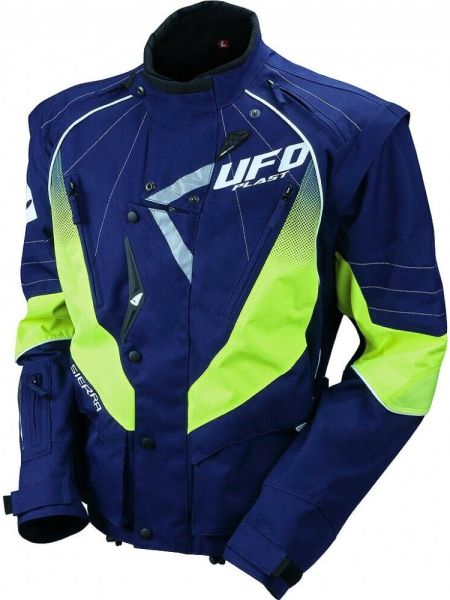 GIACCA MOTO OFF ROAD CROSS ENDURO QUAD UFO SIERRA COLORE BLU GIALLO GC 04439 C