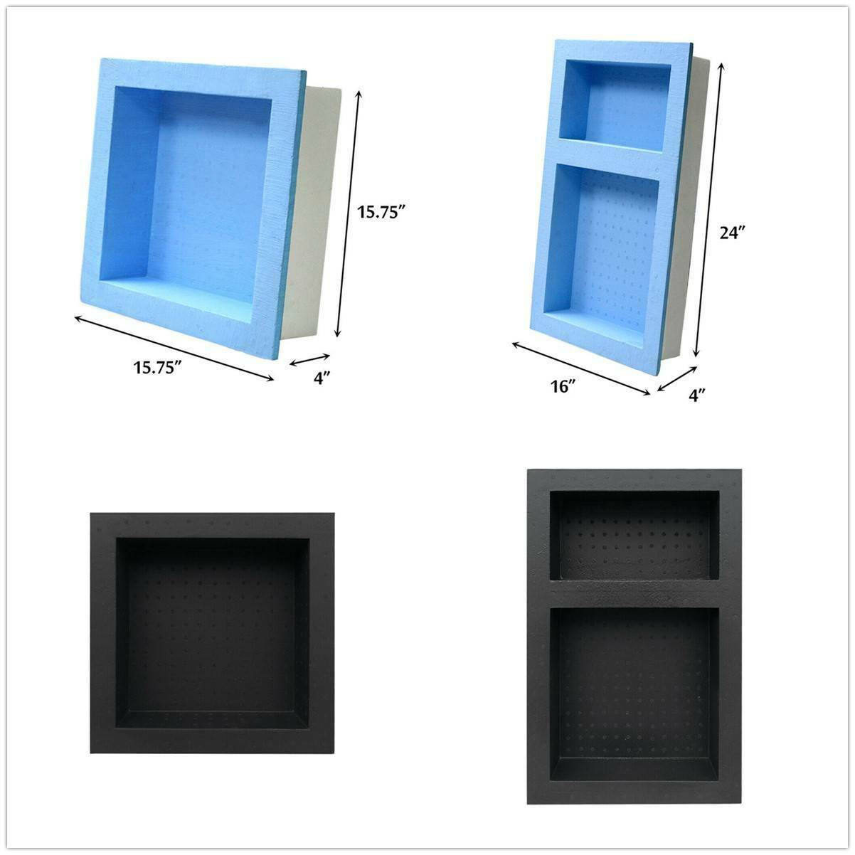 preformed double recessed shower niche ready to tile wild combo waterproof new