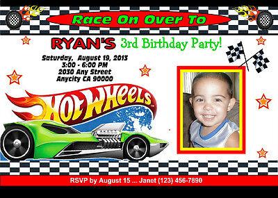 hot wheels racing custom printable birthday party invitation free ty card