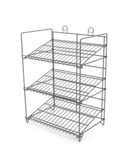 business industrial retail fixtures counter gum 3 shelf candy and snack display rack black
