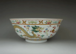Rare large Chinese antique porcelain bowl cup vase tray scholar art Qing dynasty