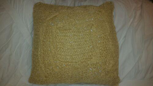 home garden pottery barn paper crochet 18 throw pillow cover tan natural jute nautical home decor