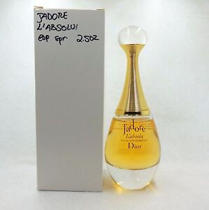 CHRISTIAN DIOR J'ADORE L'ABSOLU EAU DE PARFUM SPRAY 75 ML ...