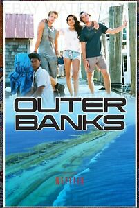 details about outer banks poster netflix rudy pankow austin north jj topper north carolina