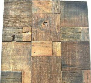 details zu reclaimed wood wall tile natural wood wall decor mosaic tiles rustic tiles