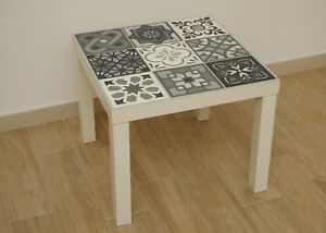Ikea ingatorp tavolo allungabile bianco 110/155 cm : Table Majolica Cementine Decoration Charcoal Vintage Design Industrial Ebay