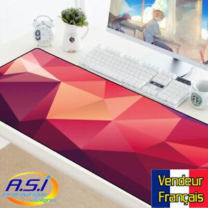 details sur tapis de souris gamer rouge rose violet design xxl grand format vendeur francais