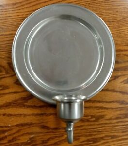 details about vintage woodbury pewter wall candle holder sconce colonial style