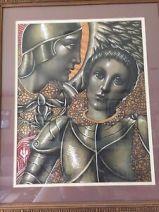 "Vtg. JOSEF M KOZAK Original Artwork ""JOAN OF ARC"" Painting/Drawing  Framed-Signed | eBay"