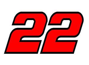 """4"""" x 7.5"""" Joey Logano Number 22 Window Decals Vinyl Stickers Penske Racing Race   eBay"""