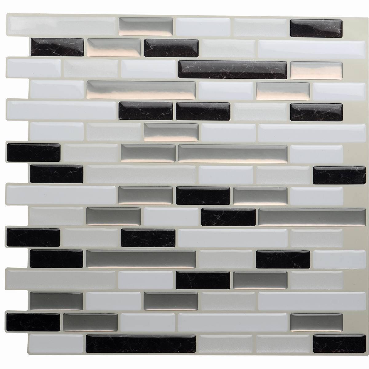 mixed black self adhesive mosaic tiles