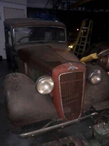 1939 AUSTIN 12 ASCOT PICKUP PROJECT HOTROD RATROD SPARES OR REPAIR RUNS DRIVES