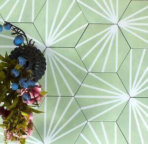 details about tile sample dandelion green decor hexagon porcelain wall floor tiles