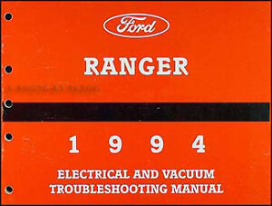1994 Ford Ranger Electrical Troubleshooting Manual Wiring