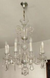 Consegna a mano o ritiro in zona italia. Vintage Anni 60 Lampadario In Cristallo Di Boemia In Perfetto Stato Ebay