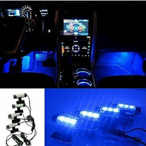 car truck light bulbs 4x 3led car floor decorative light strip auto interior accessory atmosphere lamp car truck led light bulbs