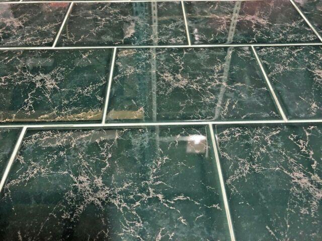 california green ceramic tile about 6x8 brite dal bath vintage wall 60 square ft