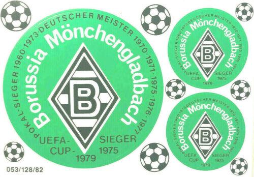 borussia m gladbach aufkleber sticker set 3 logos bundesliga fussball 1207 fussball sport