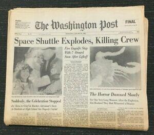 Space Shuttle Challenger Explodes - 1986 Washington Post ...
