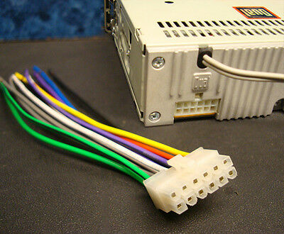 dual stereo wire harness 12pin radio power plug cd mp3 tape player us  seller  ebay