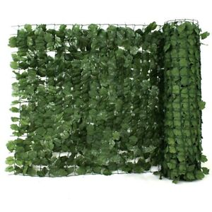 Faux Ivy Privacy Fence Screen Artificial Green Wall Leaf ... on Green Wall Patio id=37246