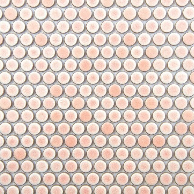 sample pink penny round mosaic tile