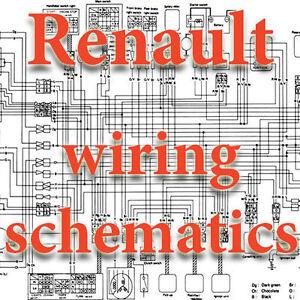 RENAULT WIRING DIAGRAMS SCHEMATICS ELECTRIC   eBay