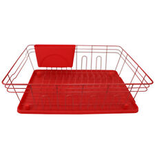 kitchenaid 3 piece dish rack red for