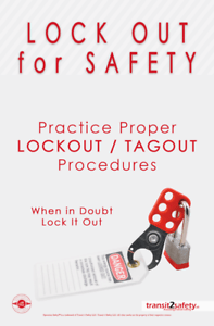details about lockout tagout safety poster