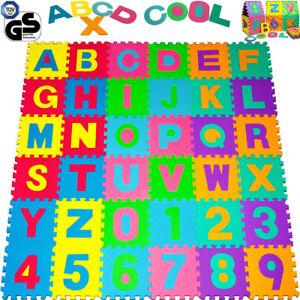 details sur puzzle tapis mousse 86 pieces alphabet et chiffres 32x32 cm tapis de jeu enfants