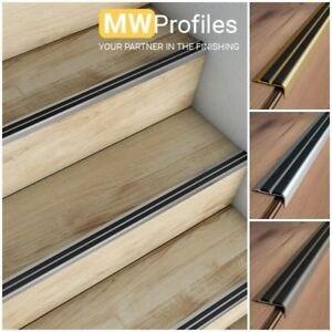 Aluminium Stair Nosing Edge Trim Step Nose Edging Nosings Carpet | Carpet Strips For Steps | Border | Carpeted | Adhesive | Builder Grade | Victorian