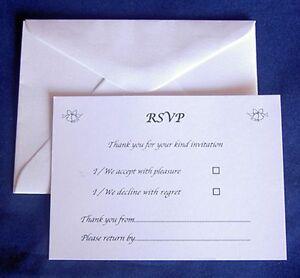 Image Is Loading 25 Rsvp Cards Amp Envelopes Wedding Reception Anniversary