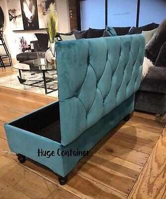 aqua storage ottoman footstool or coffee table 100 handmade bench seat ebay