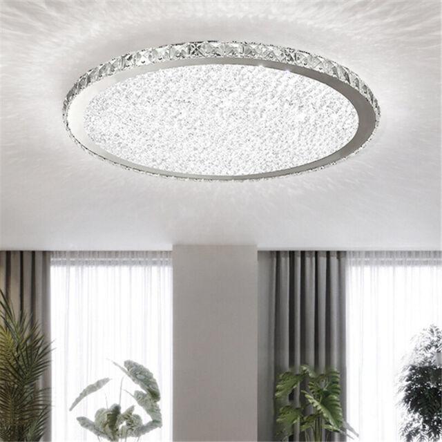 modern crystal ceiling light led