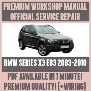 *WORKSHOP MANUAL SERVICE & REPAIR GUIDE for BMW X3 E83 20032010 WIRING DIAGRAM | eBay