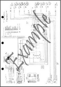 1983 Ford Mustang and Mercury Capri Wiring Diagram Foldout