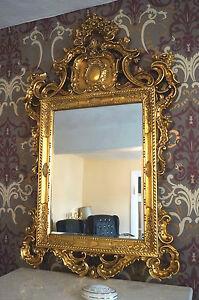 details sur grand miroir dore a la feuille d or style baroque ancien cheminee pour palais