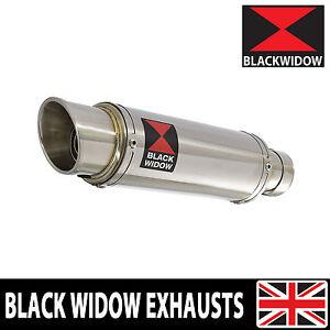 details zu black widow stainless exhaust silencer muffler 230mm gp style slip on 230sr